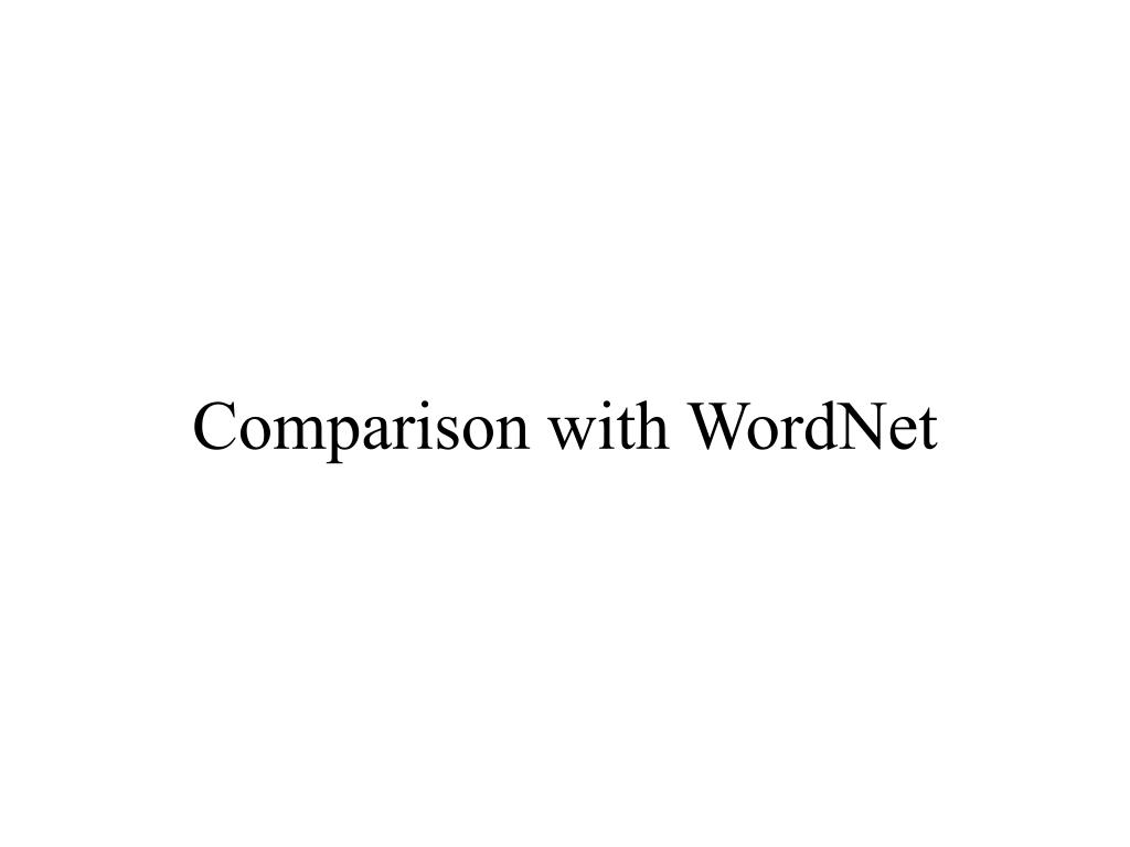 Comparison with WordNet