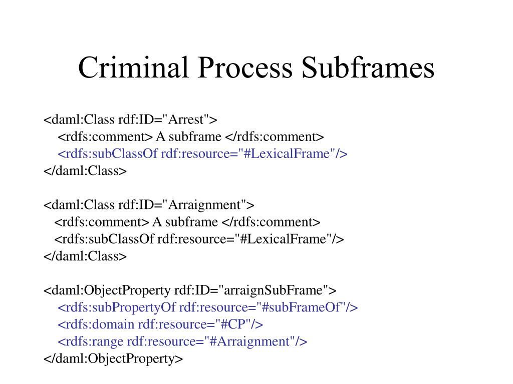 Criminal Process Subframes