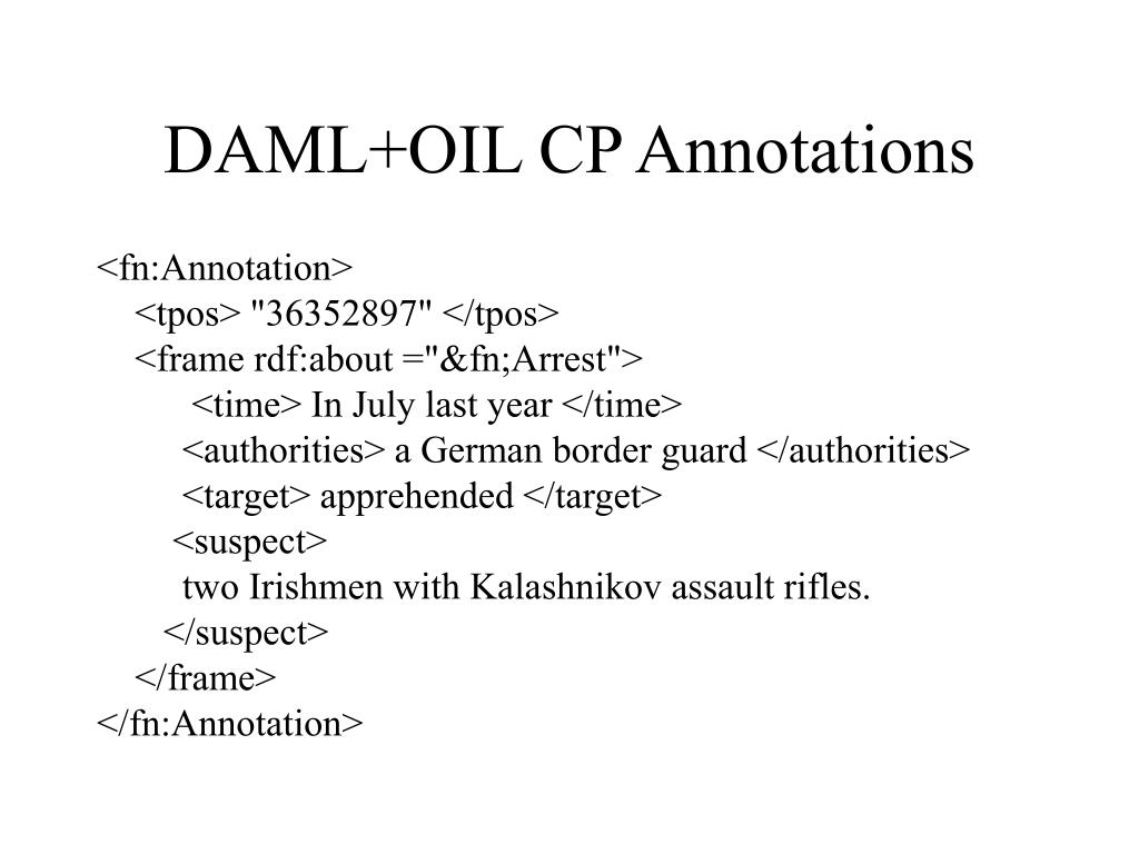 DAML+OIL CP Annotations