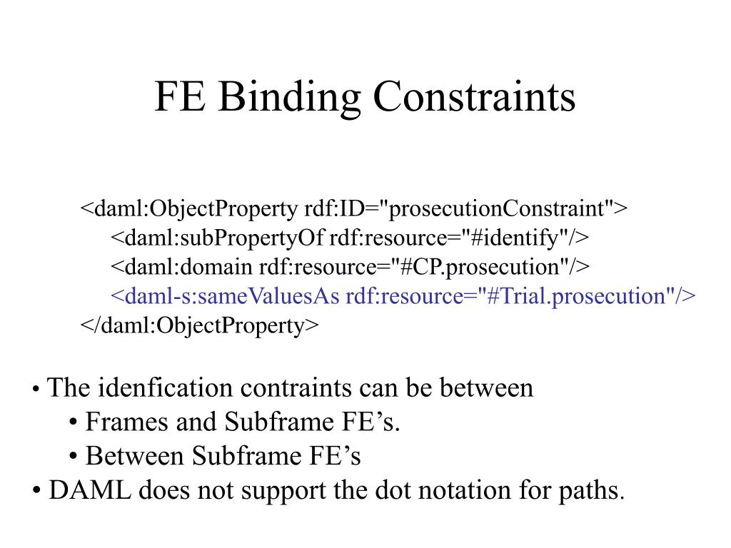 FE Binding Constraints