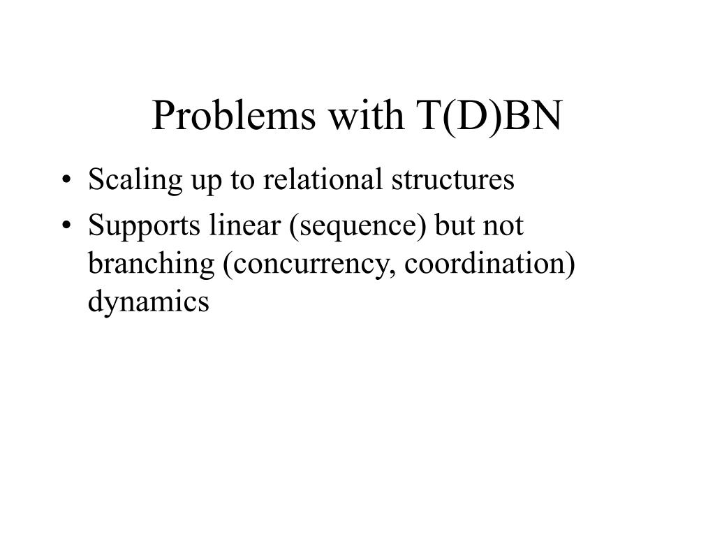 Problems with T(D)BN