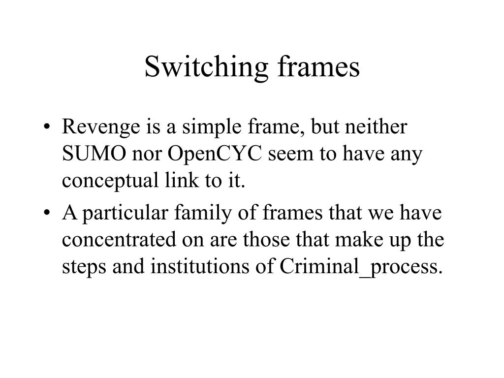 Switching frames