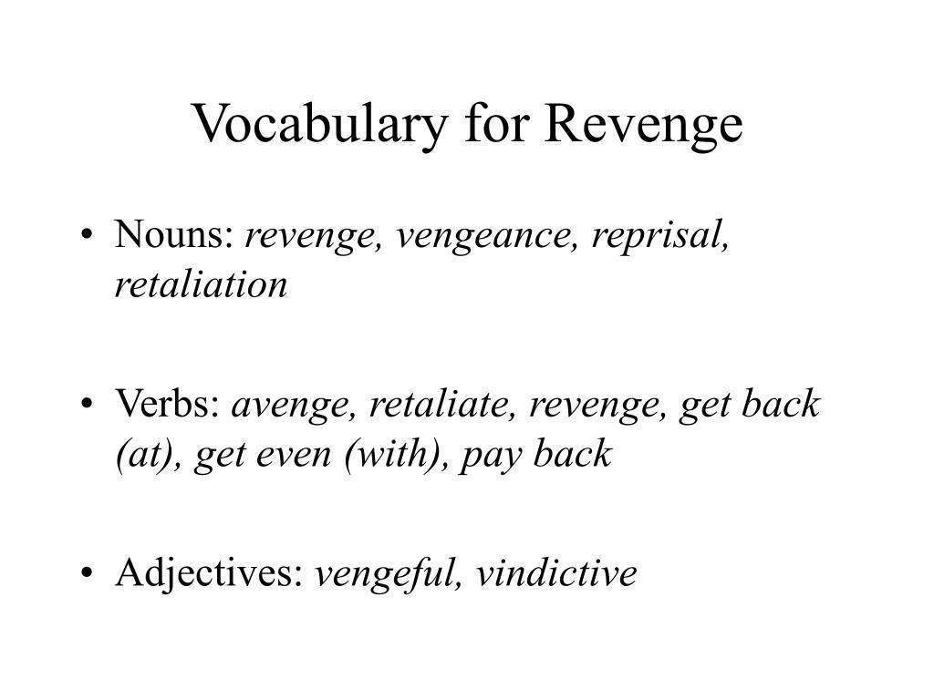 Vocabulary for Revenge