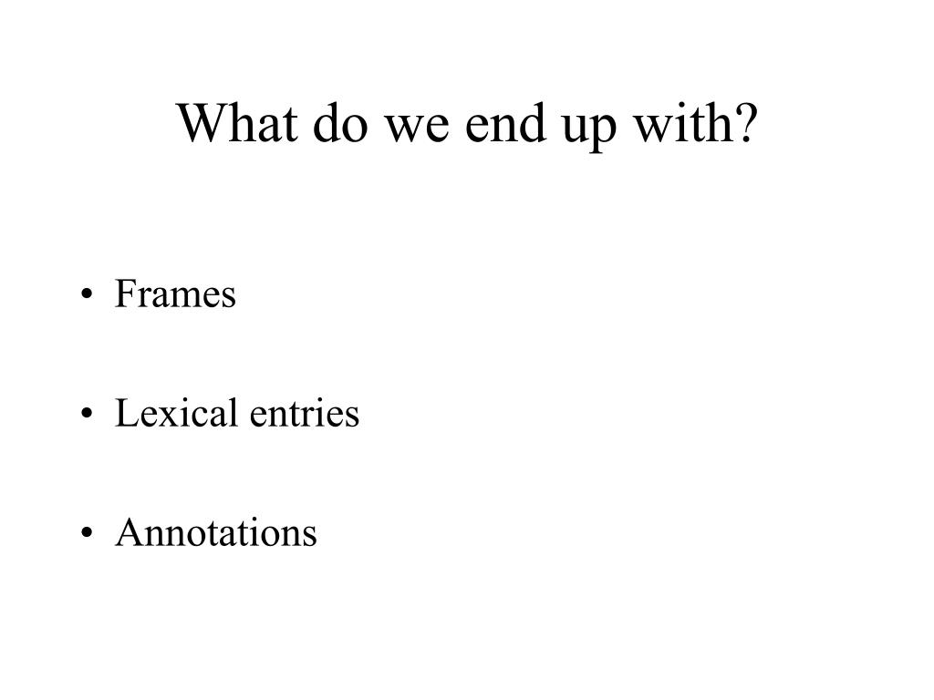 What do we end up with?