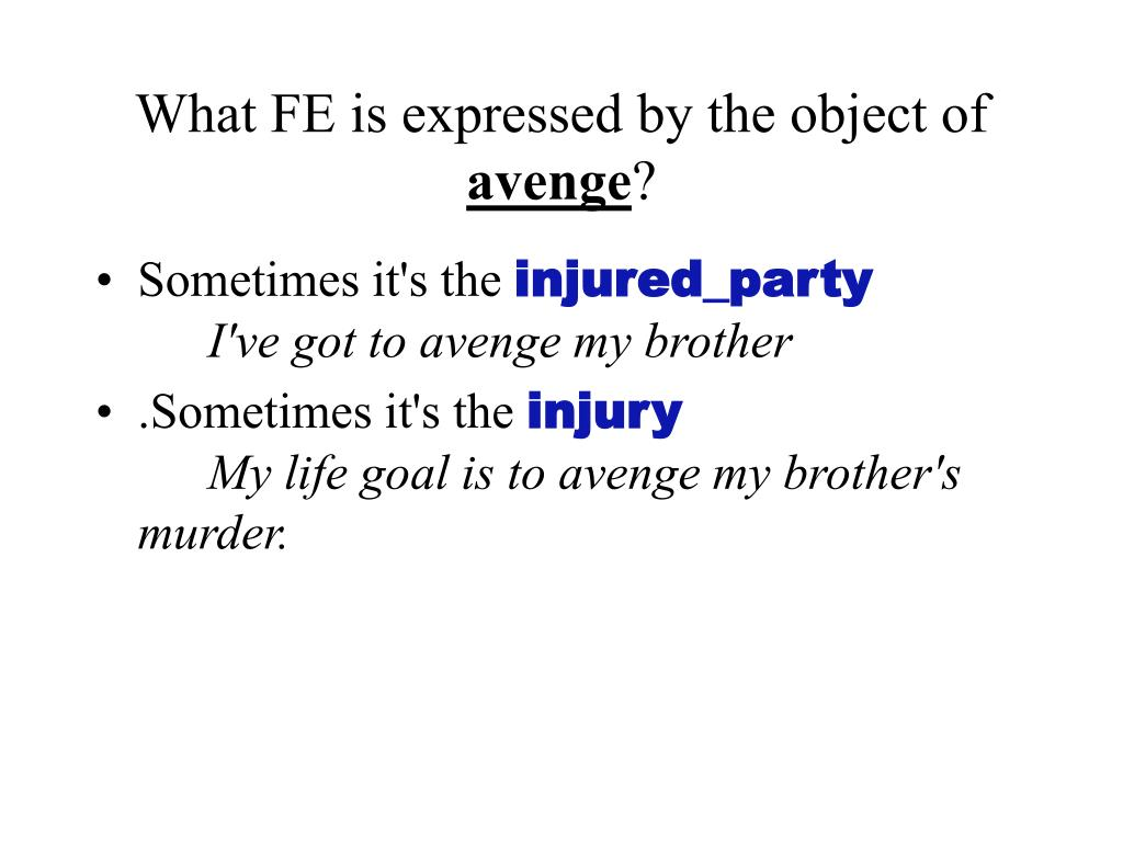 What FE is expressed by the object of