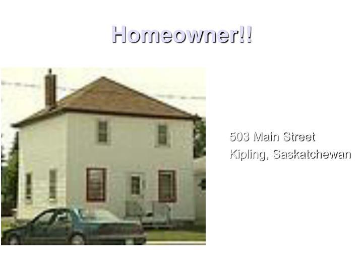 Homeowner!!