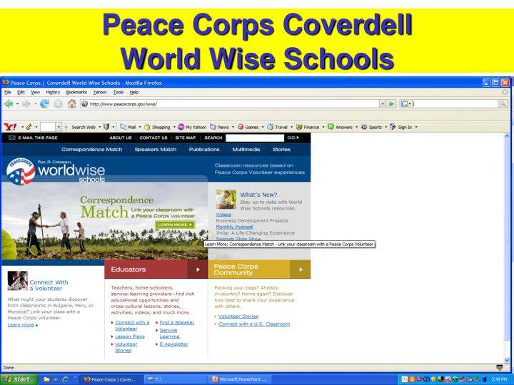 Peace Corps Coverdell