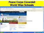 peace corps coverdell world wise schools