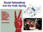 social networking and the arab spring