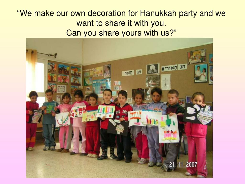 """We make our own decoration for Hanukkah party and we want to share it with you."