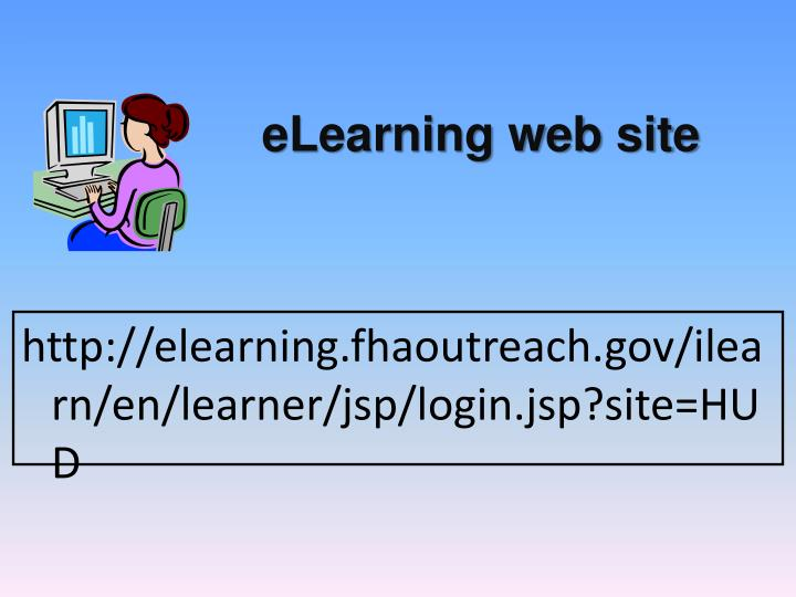 eLearning web site