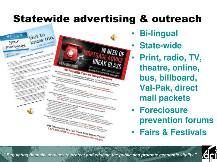Statewide advertising & outreach