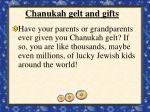 chanukah gelt and gifts