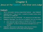 chapter 5 jesus on the sabbath life giver and judge