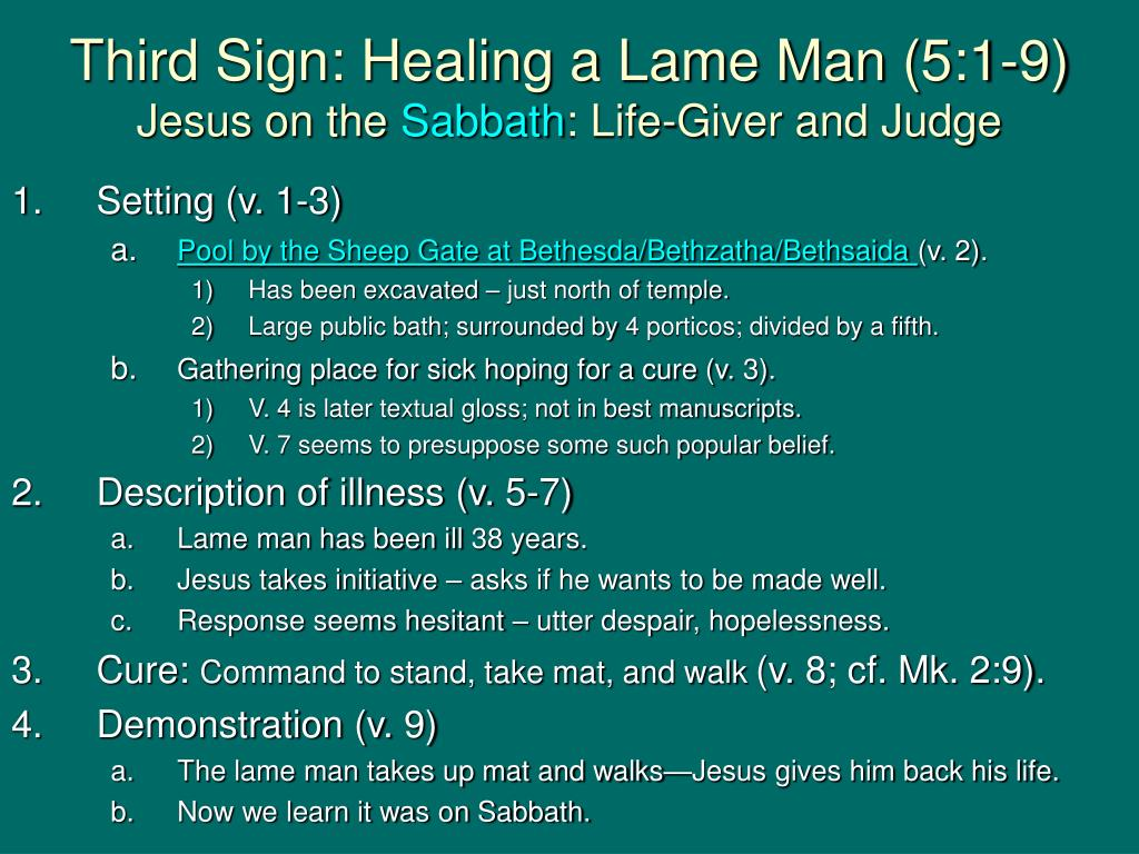 Third Sign: Healing a Lame Man (5:1-9)