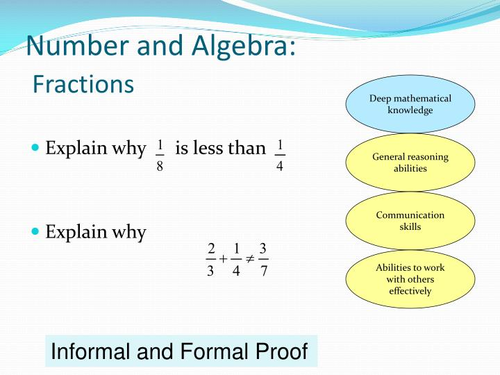 Number and Algebra: