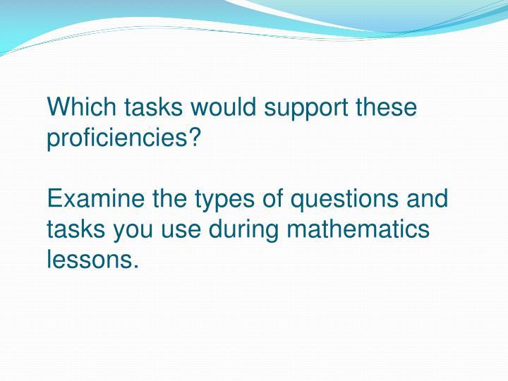 Which tasks