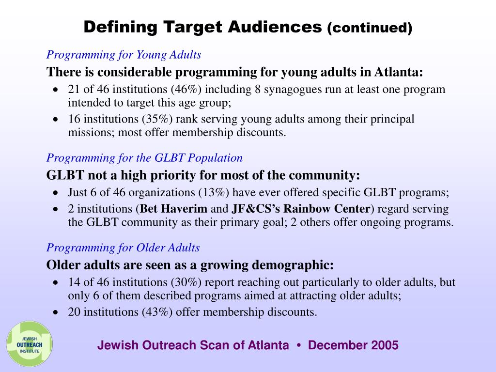 Defining Target Audiences