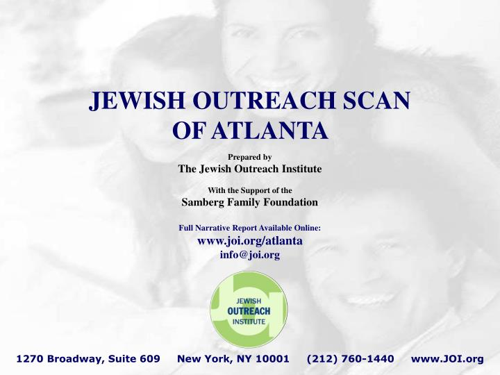 Jewish outreach scan of atlanta