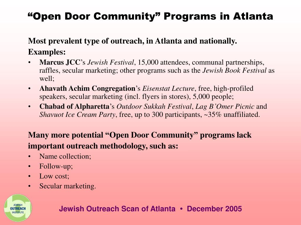 """Open Door Community"" Programs in Atlanta"
