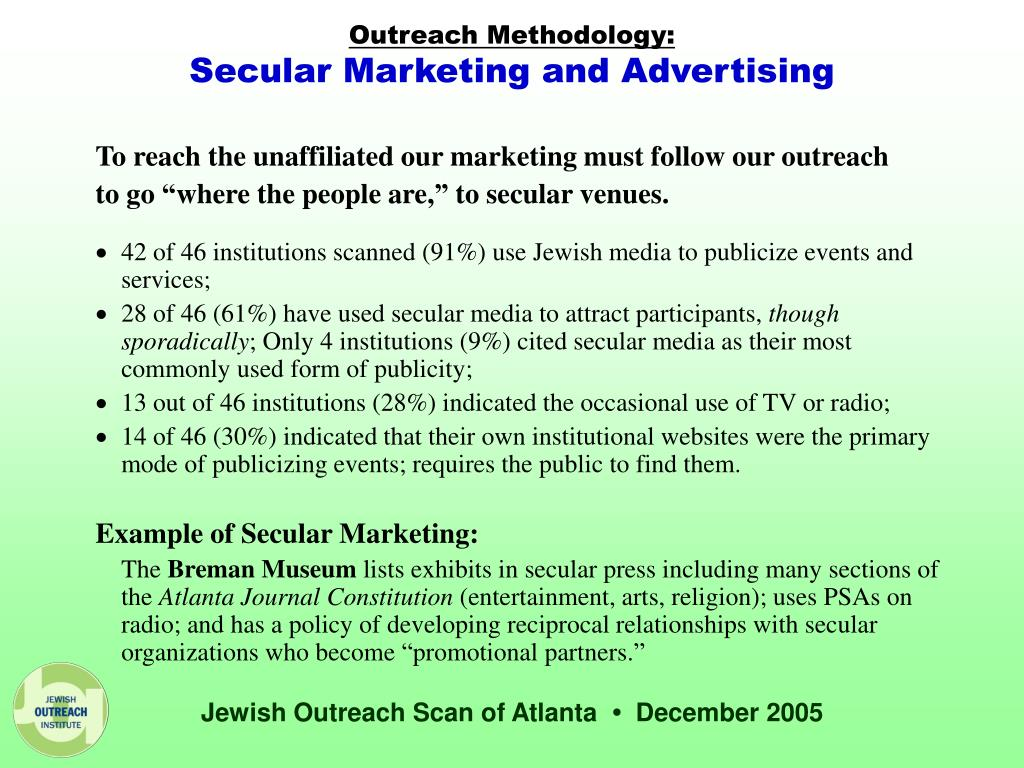 Outreach Methodology: