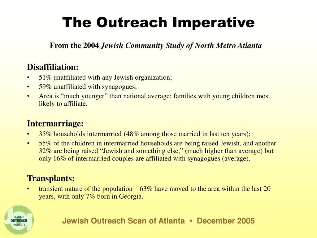The Outreach Imperative