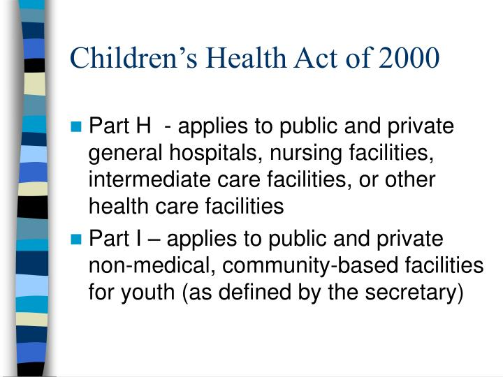 Children's Health Act of 2000