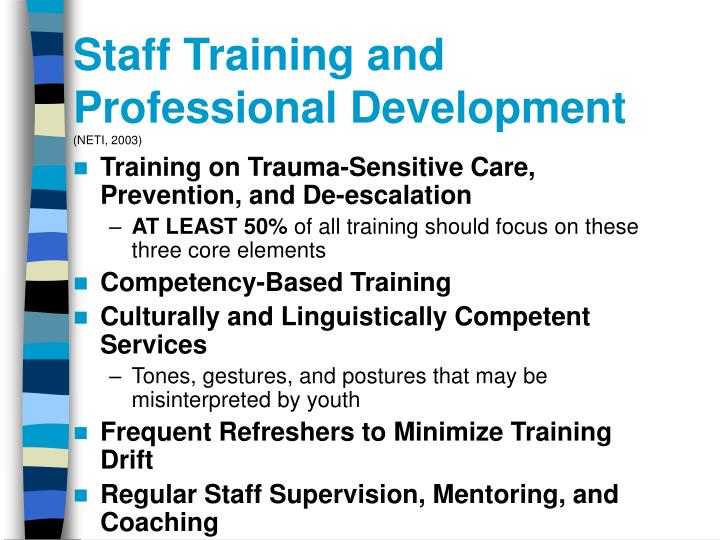 Staff Training and Professional Development