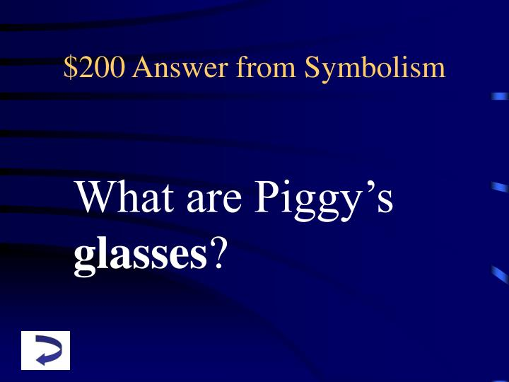 $200 Answer from Symbolism