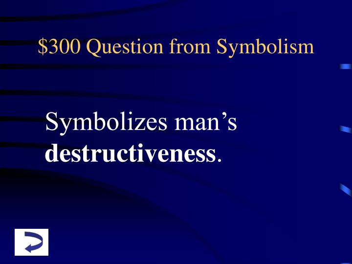 $300 Question from Symbolism