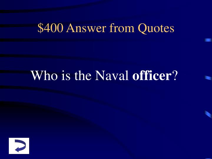 $400 Answer from Quotes