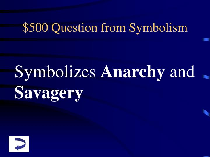 $500 Question from Symbolism