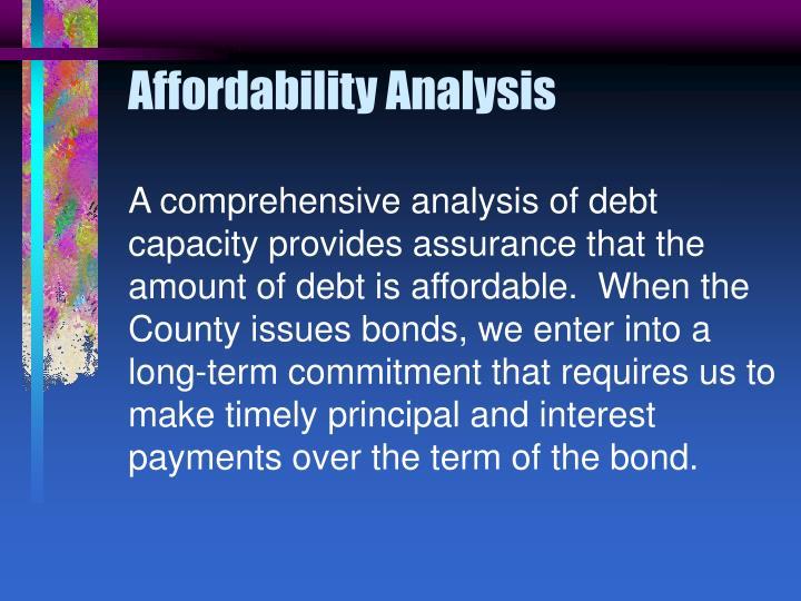 Affordability Analysis