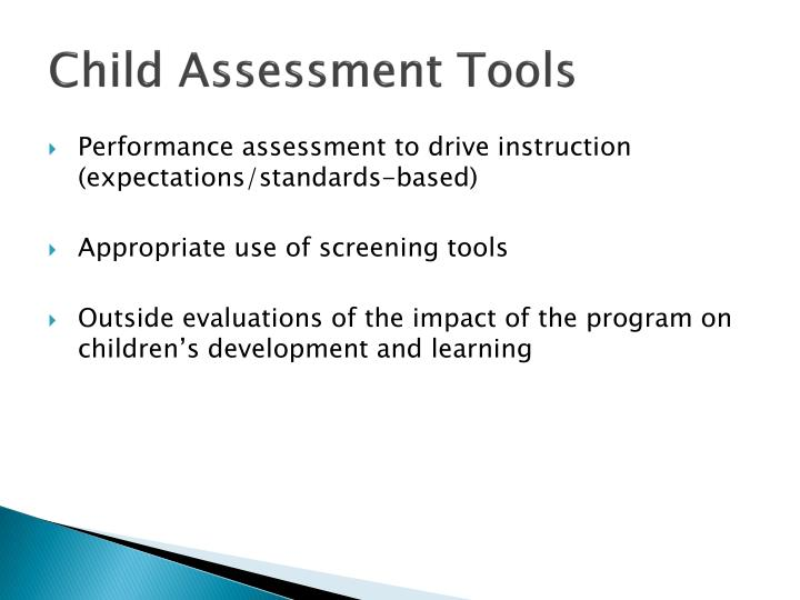 Child Assessment Tools