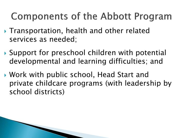 Components of the Abbott Program