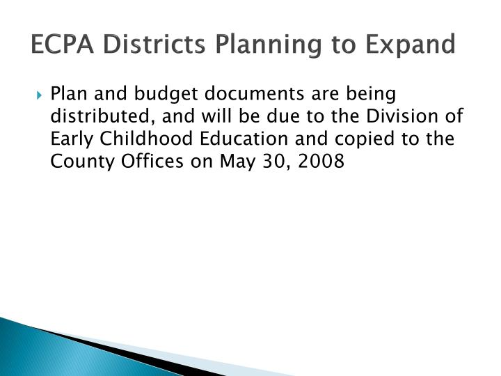 ECPA Districts Planning to Expand