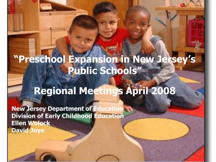 """Preschool Expansion in New Jersey's Public Schools"""