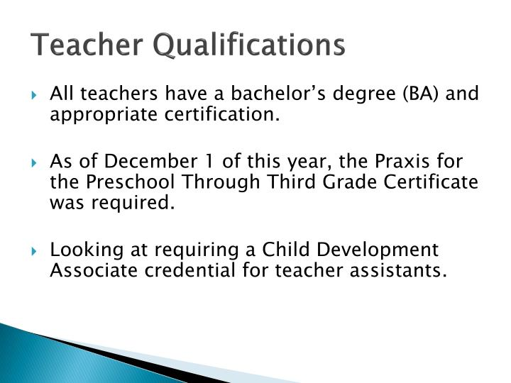 Teacher Qualifications