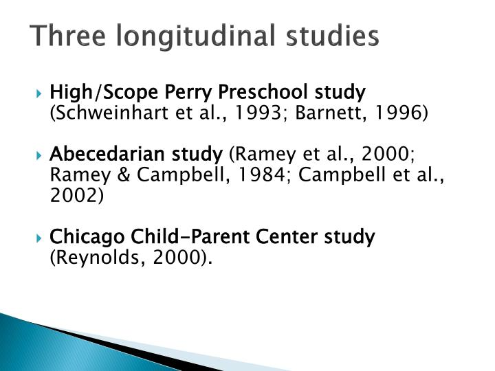 Three longitudinal studies