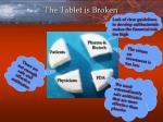 the tablet is broken