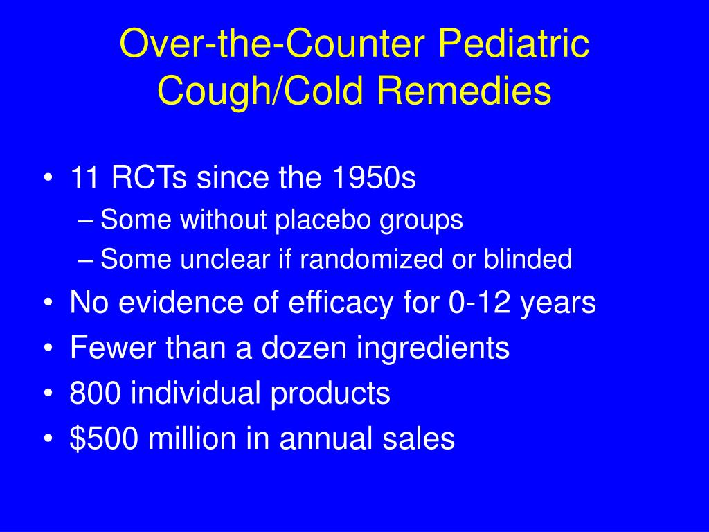 Over-the-Counter Pediatric
