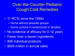 over the counter pediatric cough cold remedies