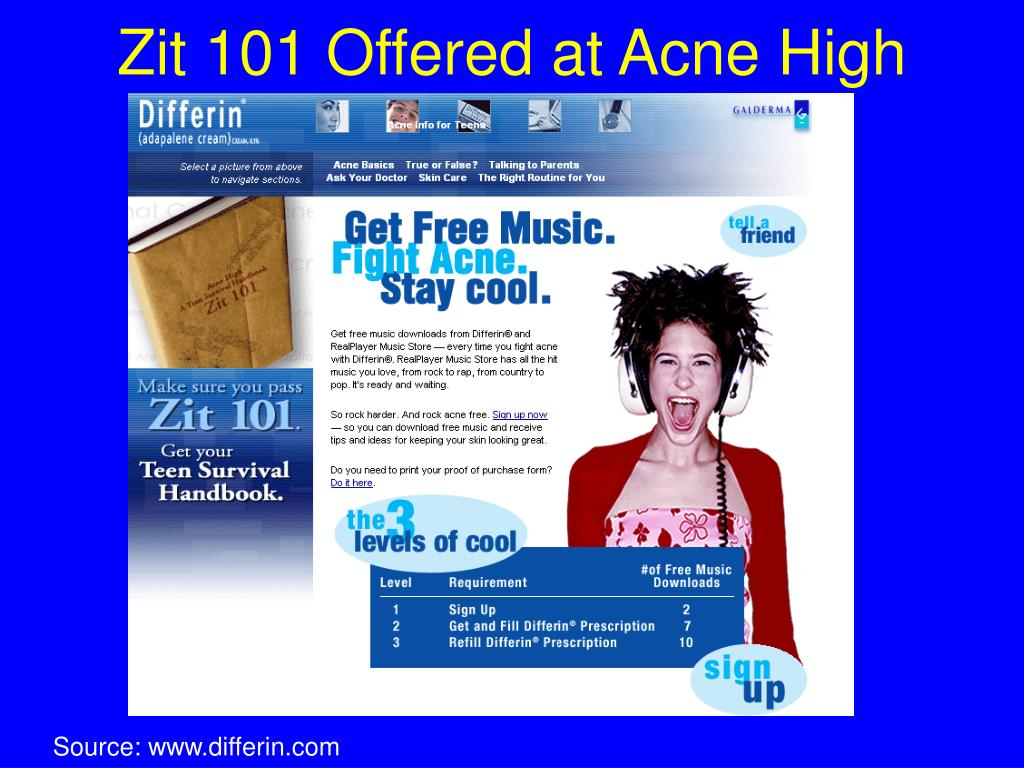 Zit 101 Offered at Acne High
