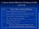 i jesus initial ministry produces faith 1 19 4 42