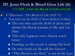 iii jesus flesh blood gives life 6 1 st i am i am the bread of life 6 35 4848