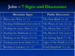 john 7 signs and discourses