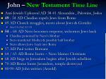 john new testament time line
