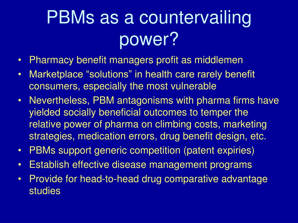 PBMs as a countervailing power?