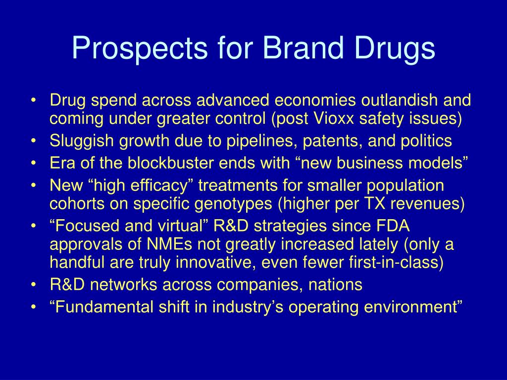 Prospects for Brand Drugs
