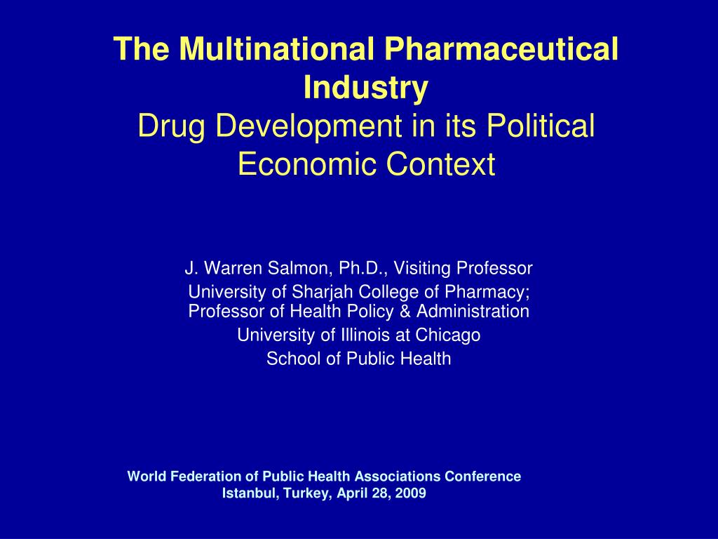 The Multinational Pharmaceutical Industry